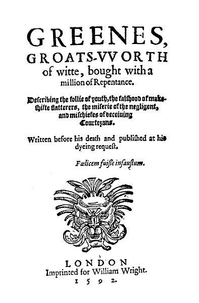 RobertGreeneGroatsworth